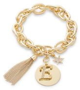 RJ Graziano E Initial Chain-Link Charm Bracelet