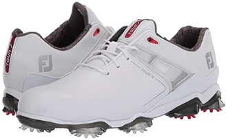 Foot Joy FootJoy Tour X (White/Red Trim) Men's Golf Shoes