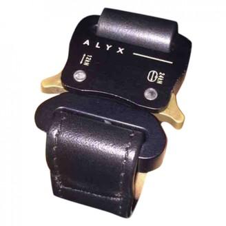 Alyx Black Leather Jewellery