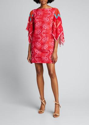 Chiara Boni Karice Floral Print Flutter-Sleeve Dress