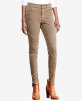 Lauren Ralph Lauren Petite Stretch Skinny Moto Jean