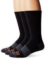 Timberland Men's 3 Pack Reinforced Heel Toe Work Crew Sock