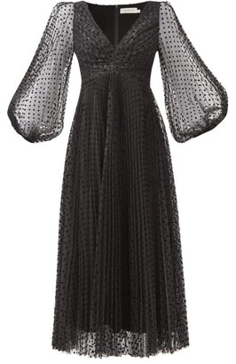 Zimmermann Lucky Polka-dot Midi Dress - Black