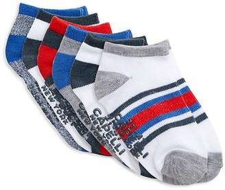 Capelli New York Baby's Little Kid's 6-Pack Logo Ankle Socks