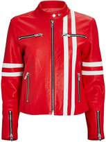The Mighty Company The Ferrara Striped Leather Jacket