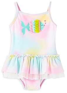 Little Me Girls' Fish Tutu Swimsuit - Baby
