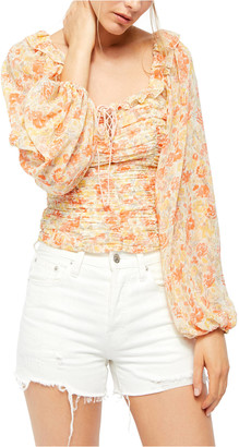 Free People Mabel Floral Blouse Yelm S