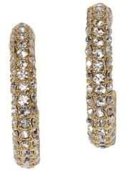 Vince Camuto Jewel Encrusted Goldtone & Pave Crystal Covered Hoop Earrings