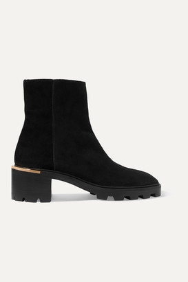 Jimmy Choo Melodie 35 Suede Ankle Boots - Black