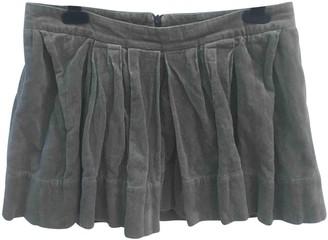 Isabel Marant Grey Velvet Skirt for Women
