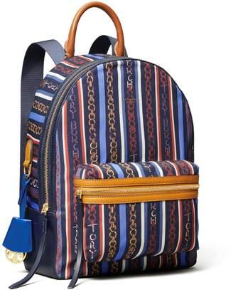 Tory Burch Perry Nylon Printed Zip Backpack