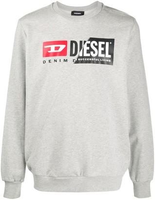 Diesel S-Girk-Cuty spliced-panel cotton sweatshirt