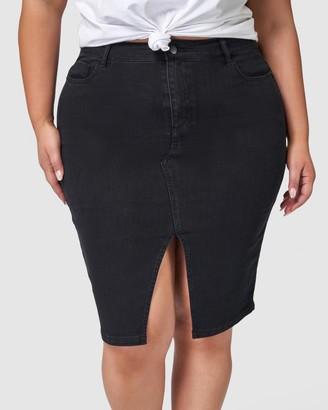 Indigo Tonic - Women's Black Denim skirts - Willow Denim Skirt - Size One Size, 10 at The Iconic