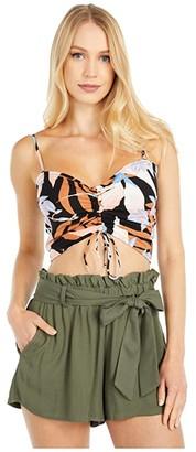 Billabong Beaud Up Tank Top (Off-Black) Women's Clothing
