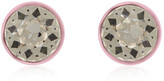 Givenchy Round Earrings In Baby-pink Lacquered Brass And Crystal - Baby pink
