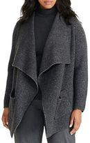 Lauren Ralph Lauren Plus Wool Herringbone Cardigan