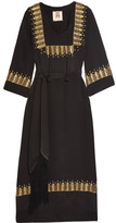 Figue Chachani Embellished Silk Dress - Black