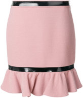 Moschino Frill hem mini skirt