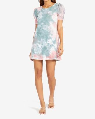 Express Bb Dakota Tie-Dye Knit Mini Dress