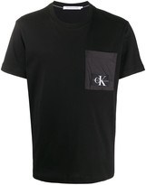 Calvin Klein Jeans logo patch crew-neck T-shirt