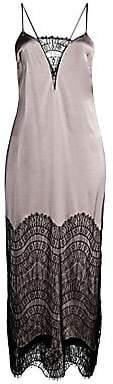 Kiki de Montparnasse Women's Silk-Blend Lace Inset Nightgown