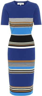 Diane von Furstenberg Dasha striped knit midi dress