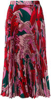 Marco De Vincenzo floral pleated skirt