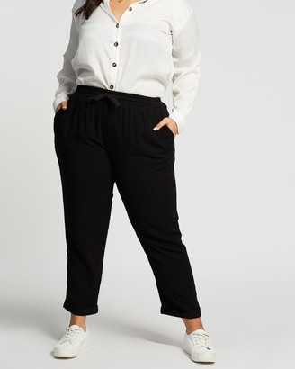 Atmos & Here Joanna Linen Blend Relaxed Pants