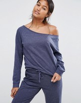 Asos LOUNGE Jersey Off the Shoulder Sweatshirt