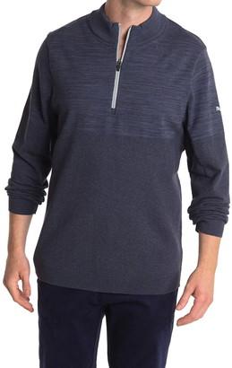 Puma Blue evoKNIT 1/4 Zip Golf Sweater