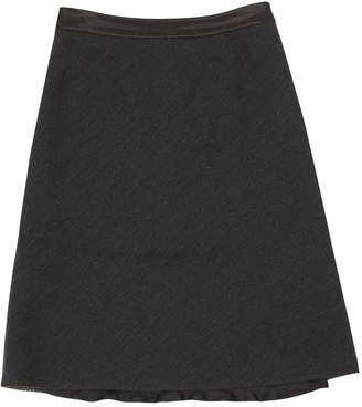Louis Vuitton Anthracite Wool Skirts