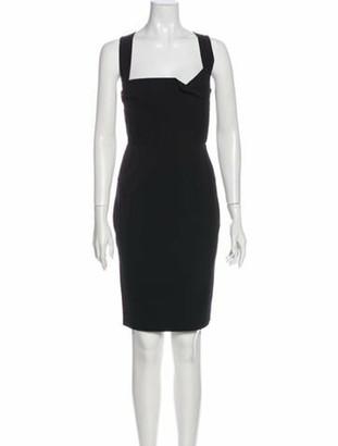 Roland Mouret Square Neckline Mini Dress Black