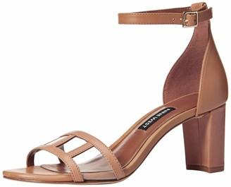Nine West Women's PLAYASIR Leather Heeled Sandal