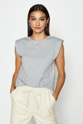Coast Sleeveless Padded Shoulder T-Shirt