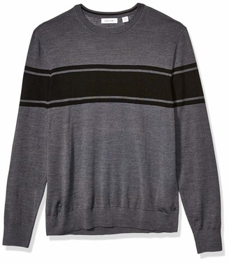 Calvin Klein Mens Merino Sweater Crew Neck