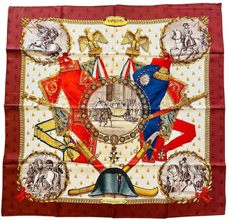 Hermes Carre Geant silk 140 Burgundy Silk Scarves