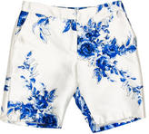 Lela Rose Floral Print Tailored Shorts
