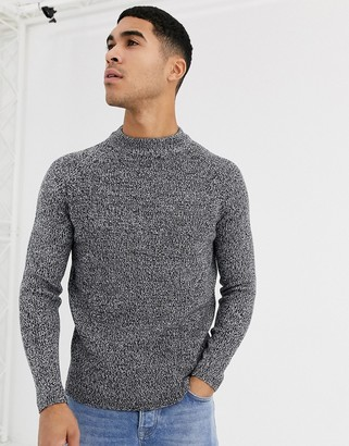 Burton Menswear jumper in grey twist