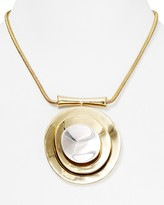 "Robert Lee Morris Soho Layered Circle Pendant Necklace, 14"""