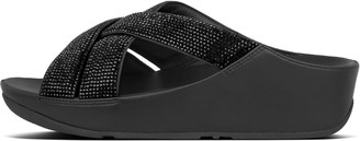 FitFlop Lattice Crystal Toe-Post Sandals