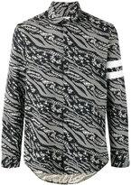 Les Benjamins abstract print shirt