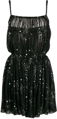 Saint Laurent Glitter-Detail Splatter Dress