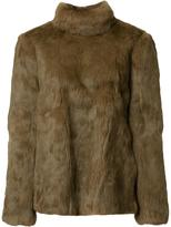 Vanessa Seward back fastening jacket - women - Rabbit Fur/Polyester/cellulose - 1