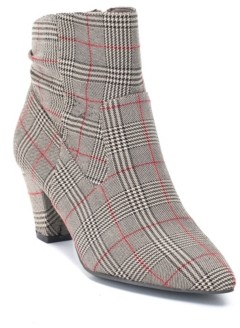 Levi's Gc Shoes Cone Heeled Plaid Ankle Boot Women's Shoes