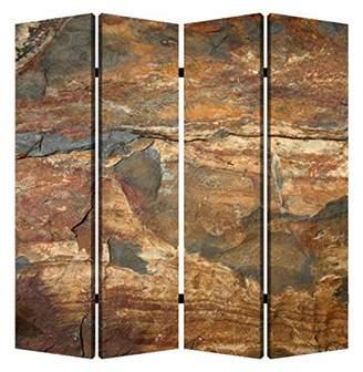 Screen Gems Dark Brown Slate 4-panel Room Divider 7ft. Tall