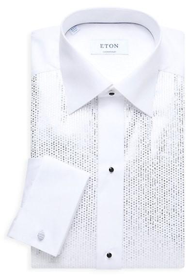 Thumbnail for your product : Eton Metallic Bib Slim-Fit Evening Shirt