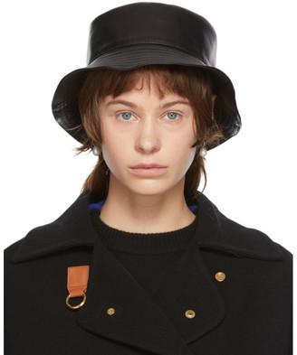 Loewe Black Leather Fisherman Hat