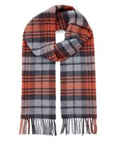 Wool Highlight Check Scarf