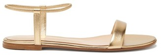 Gianvito Rossi Jaime Leather Flat Sandals - Gold