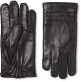 Bottega Veneta Cashmere-lined Intrecciato Leather Gloves - Black